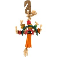 Rainbow Treasures Chewable Foraging Parrot Toy - Small