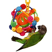 Jingle Ball Planet Parrot Toy