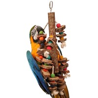 Natural Stacker Wooden Parrot Toy