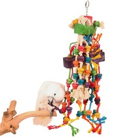 Megamuncher Wood and Rope Parrot Toy