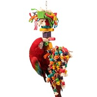 Double Trouble Wood and Rope Parrot Toy