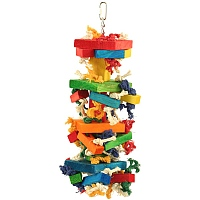Chewstacks Wood & Rope Parrot Toy