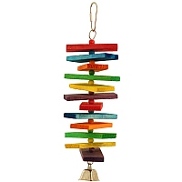 Coloured Stacker Wooden Parrot Toy