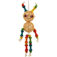 Monster Man Wood and Vine Parrot Toy