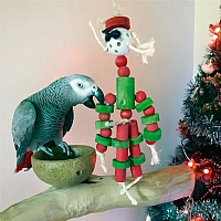 Mr Christmas Wood and Rope Parrot Toy