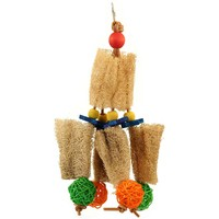 Loofah Hide `n` Seek Hanging Parrot Toy