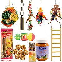 Cockatiel & Small Parrot Favourite Toys n Treat Kit