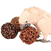Giant Sea Grass Ball Parrot Chew Toy - Pack of 3