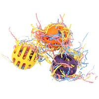 Waffle Ball Stuffer Foot Toy for Parrots - Pack of 3