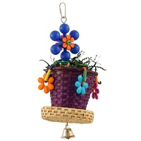 Woven Flower Pot Chew Parrot Toy