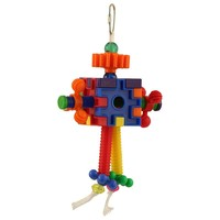 Mr Roboto Chewable Puzzle Parrot Toy