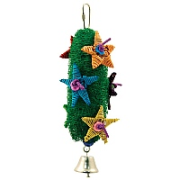 Loofah Christmas Tree Parrot Toy