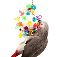 Hanging Binky Ball Senior Parrot Toy