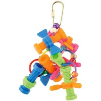 Nothing But Nuts & Bolts Hanging Parrot Puzzle Toy
