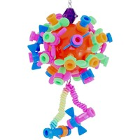 Ball of Nuts & Bolts - Hanging Puzzle Toy for Parrots