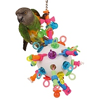 Nuts, Bolts & Binkys Large - Challenging Parrot Toy