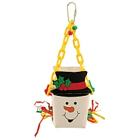 Snowman Foraging Goodie Box Parrot Toy