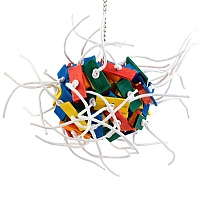 Supernova Wood & Rope Parrot Toy - Giant