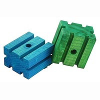 Coloured Square Groovy Blocks - Parrot Toy Parts - Pack of 2