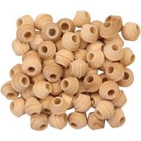 Natural Wood Beads - Small - Pack of 60