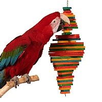 Cocotte - Wooden Chewable Parrot Toy - Medium