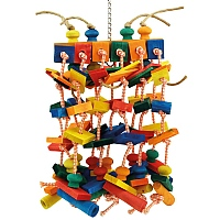 Piano - Large Wood & Rope Parrot Toy