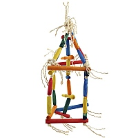 Climbing Cube Wood & Rope Parrot Toy - Medium
