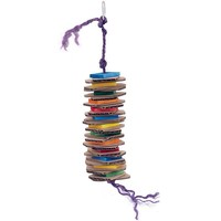 Stacks of Shredding - Medium - Wood & Cardboard Parrot Toy