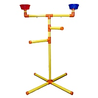 Floor Standing T- Perch Parrot Playstand - Medium
