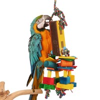 Hidden Treasure Foraging Toy for Parrots - Large