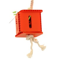 Foraging Cube - Hanging Parrot Toy - Small
