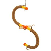 Swinging `S` Parrot Perch Medium & Paper Rope Refill