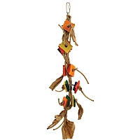Tango Dancer Wood & Rope Parrot Toy