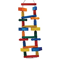 Rainbow Blocks Parrot Bridge - Jumbo