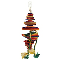 Popoff Wood & Rope Parrot Toy - Medium
