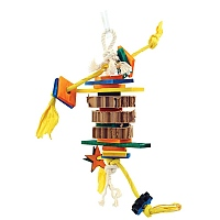 Dynamite Wood & Rope Parrot Toy - Small