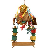 Tropical Swing Parrot Toy
