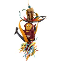 Forage Friends Monkey - Chewable Foraging Parrot Toy