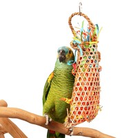 Caribbean Foraging Pouch Chewable Parrot Toy