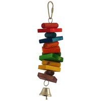 Small Rainbow Stack Parrot Toy