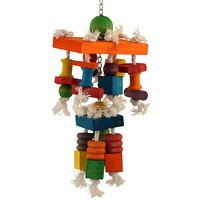 Cascading Blocks to Chew Parrot Toy