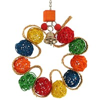 Vine Ball Braided Wreath Parrot Toy