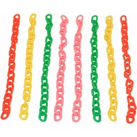 Colourful Plastic Chain - Small - Parrot Toy Parts - 8 Pack