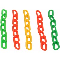 Colourful Plastic Chain Links - Large - Parrot Toy Parts - 5