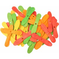 Colourful Wood Ice Cream Sticks - Parrot Toy Parts - 50 Pack