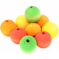 Colourful Wooden Balls - Parrot Toy Making Parts - 9 Pack