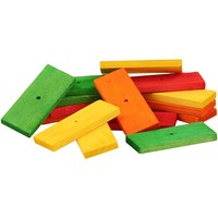 Colourful Wooden Slats Large - Parrot Toy Parts - Pack of 15