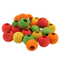 Colourful Wood Beads - 3/4