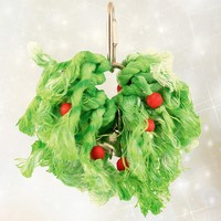 Cotton Holly Ring Parrot Toy - Small