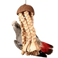 Shred Me Jellyfish - Large Natural Parrot Toy